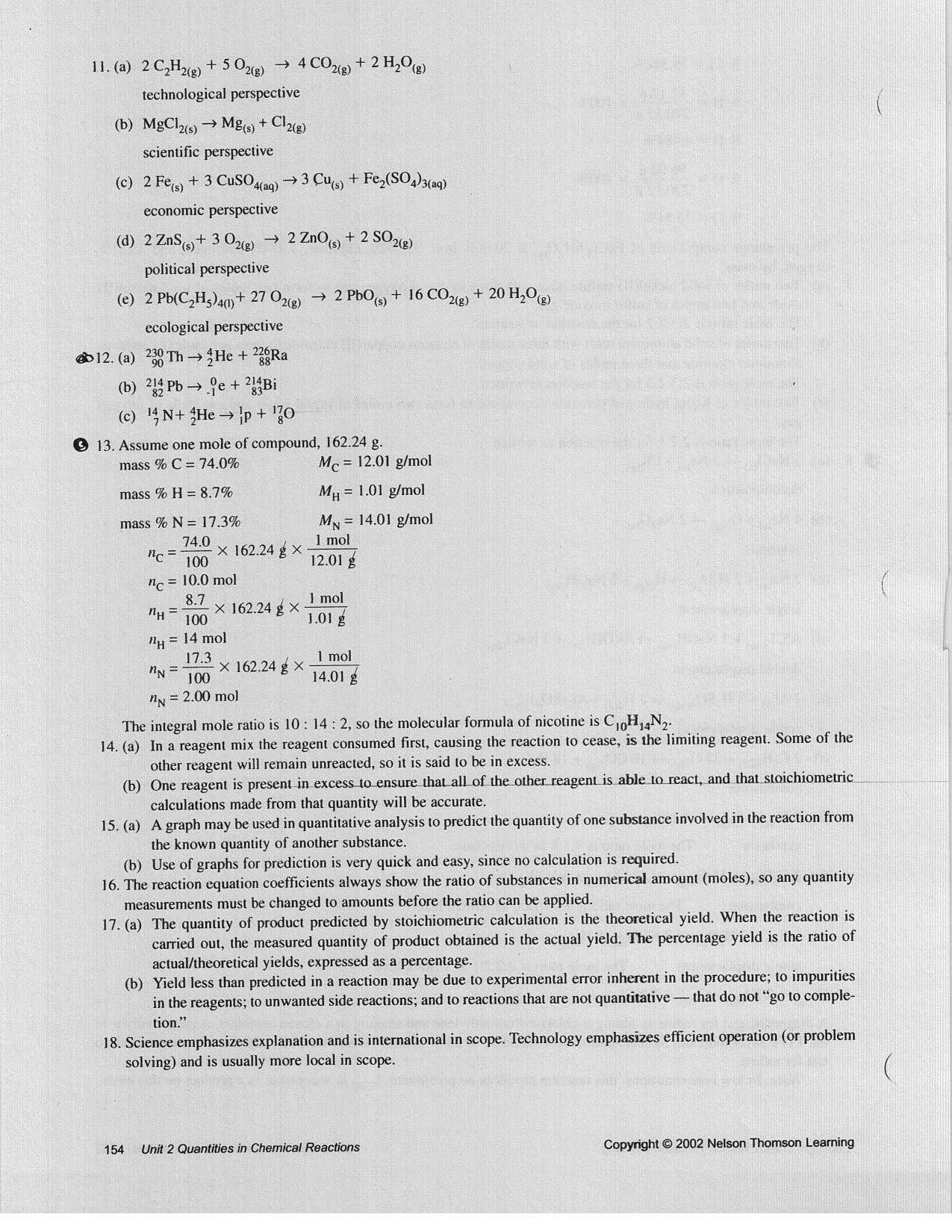 Mathball 3u chemistry sem 1 16 17 20 21 22 23 24 26 numerical answers are on page 638 sciox Choice Image